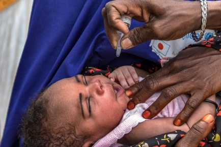 Happening - end polio - Zondag 24 oktober, Wereld Polio Dag in Antwerpen